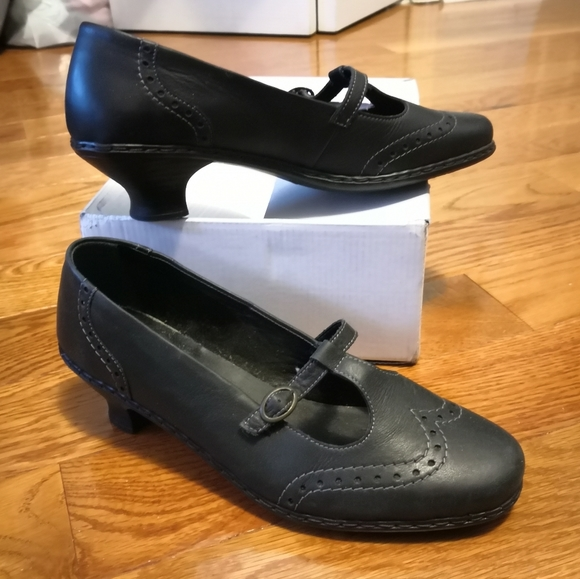 Rieker Shoes - Black leather Mary Jane shoes